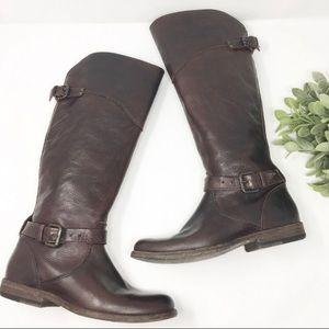 Frye dark brown tall boots  size 6